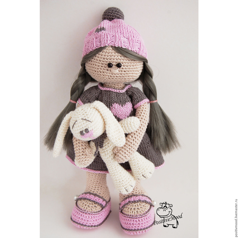 куколка игрушка вязаная кукла вязаная крючком купить в