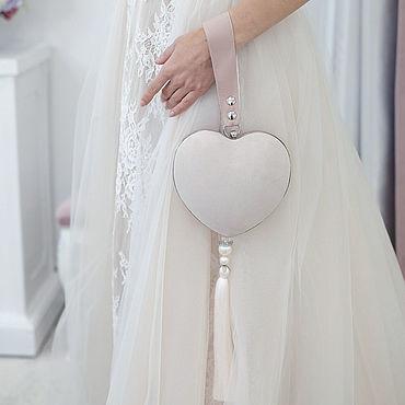 """Сумки и аксессуары ручной работы. Ярмарка Мастеров - ручная работа Свадебная сумка сердце Wedding Princess """"Sleeping Beauty"""". Handmade."""