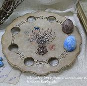 """Подарки к праздникам ручной работы. Ярмарка Мастеров - ручная работа Подставка для для кулича и  пасхальных яиц """" Верба"""". Handmade."""