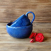 """Посуда ручной работы. Ярмарка Мастеров - ручная работа Набор """"средиземноморский"""". Handmade."""