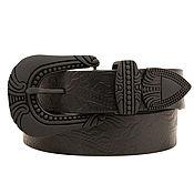 Аксессуары handmade. Livemaster - original item Copy of Womens Western double buckle belt. Handmade.