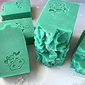 Косметика ручной работы handmade. Livemaster - original item Natural soap on cow`s milk with menthol Green ice. Handmade.