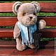"""Мишки Тедди ручной работы. Мишка тедди """"Проша"""". medwedko ( Мария) Дом медвежонка. Интернет-магазин Ярмарка Мастеров."""