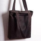 Сумки и аксессуары ручной работы. Ярмарка Мастеров - ручная работа Кожаная сумка-пакет. Handmade.