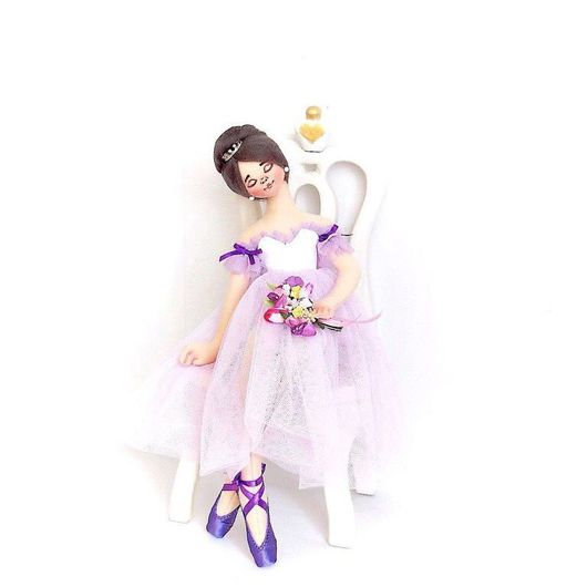 Коллекционные куклы ручной работы. Ярмарка Мастеров - ручная работа. Купить Балерина. Handmade. Тряпиенсы, ручная работа, лаванда, лён