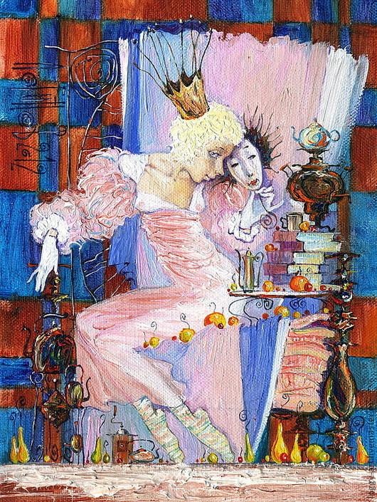 """Люди, ручной работы. Ярмарка Мастеров - ручная работа. Купить """"Принцесса на горошине"""". Handmade. Будуар, принцесса, фея, чай, самовар"""