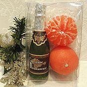 Косметика ручной работы. Ярмарка Мастеров - ручная работа Набор  мыла мандарин+шампанское. Handmade.