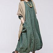 Одежда ручной работы. Ярмарка Мастеров - ручная работа Льняное бохо платье 4-17. Handmade.
