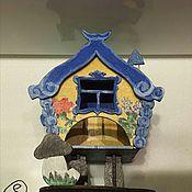 """Для дома и интерьера ручной работы. Ярмарка Мастеров - ручная работа Чайный домик """"Избушка"""". Handmade."""