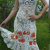 Одежда ручной работы. Ярмарка Мастеров - ручная работа Платье ,вязаное крючком ,ирландское кружево .. Handmade.
