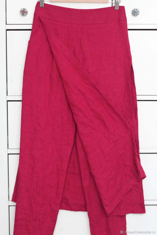 Designer pants with 100% linen skirt, Pants, Tomsk,  Фото №1