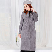 Одежда handmade. Livemaster - original item Women`s coats in a retro style made of ECO-suede