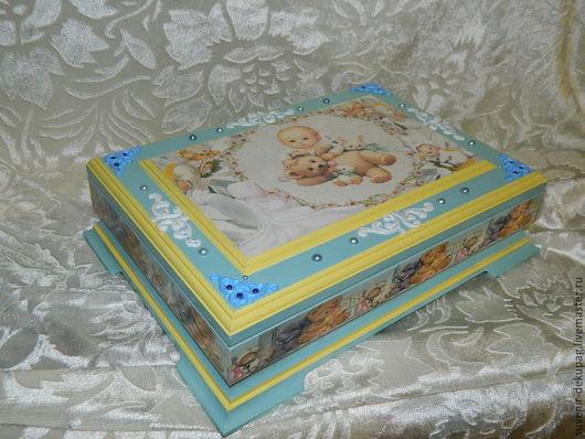 Подарки для новорожденных, ручной работы. Ярмарка Мастеров - ручная работа. Купить Шкатулочка - Мамины сокровища - Ангелочек. Handmade. Мамины сокровища