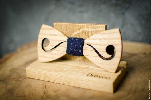 Галстуки, бабочки ручной работы. Ярмарка Мастеров - ручная работа. Купить деревянная галстук-бабочка DREVOO усы. Handmade. усы