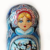 """Русский стиль ручной работы. Ярмарка Мастеров - ручная работа Матрешка """"Морозко"""". Handmade."""