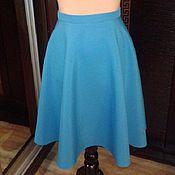 Одежда ручной работы. Ярмарка Мастеров - ручная работа Бирюзовая юбка полусолнце. Handmade.