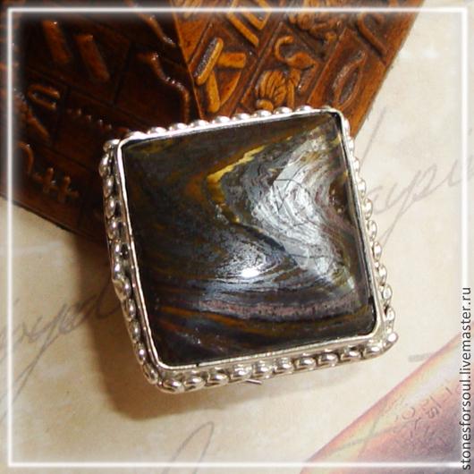 """Кольца ручной работы. Ярмарка Мастеров - ручная работа. Купить кольцо в серебре 925 пр. """"Почти черный квадрат"""". Handmade."""