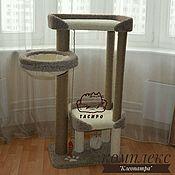 """Для домашних животных, ручной работы. Ярмарка Мастеров - ручная работа Когтеточка, домик для кошки , игровой комплекс """"Клеопатра """". Handmade."""