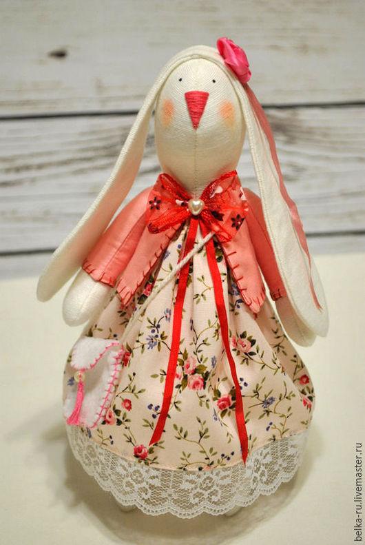 Куклы Тильды ручной работы. Ярмарка Мастеров - ручная работа. Купить Зайка в стиле Тильда Карамель. Handmade. Розовый, зайчонок