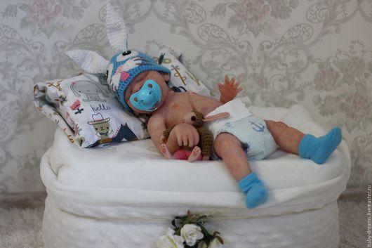 Куклы-младенцы и reborn ручной работы. Ярмарка Мастеров - ручная работа. Купить Силиконовый малыш.. Handmade. Бежевый
