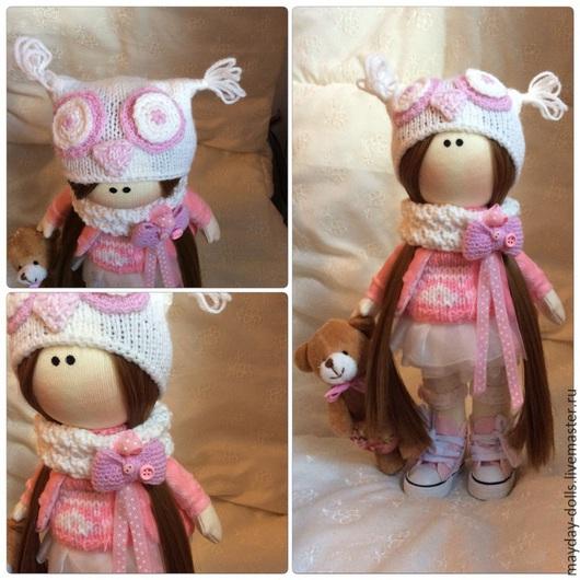 Куклы тыквоголовки ручной работы. Ярмарка Мастеров - ручная работа. Купить Интерьерная текстильная кукла большеножка Совушка. Handmade.