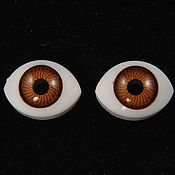 """Фурнитура для кукол и игрушек ручной работы. Ярмарка Мастеров - ручная работа 10х15мм Глаза кукольные (карие) 2шт. """"1675"""". Handmade."""
