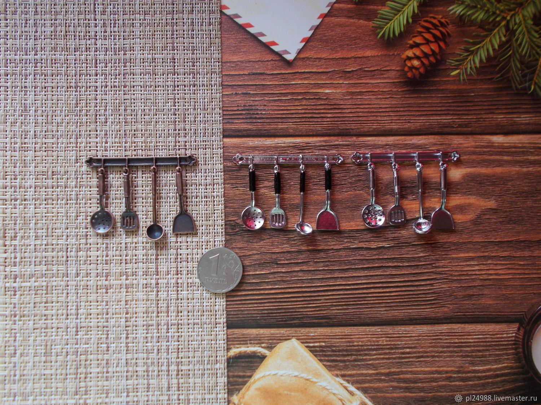 Миниатюра в масштабе 1:12, набор кухонных принадлежностей, Аксессуары для кукол и игрушек, Псков,  Фото №1
