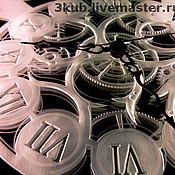 """Для дома и интерьера ручной работы. Ярмарка Мастеров - ручная работа Авторские часы-картина с подсветкой «Изящество времени"""". Handmade."""