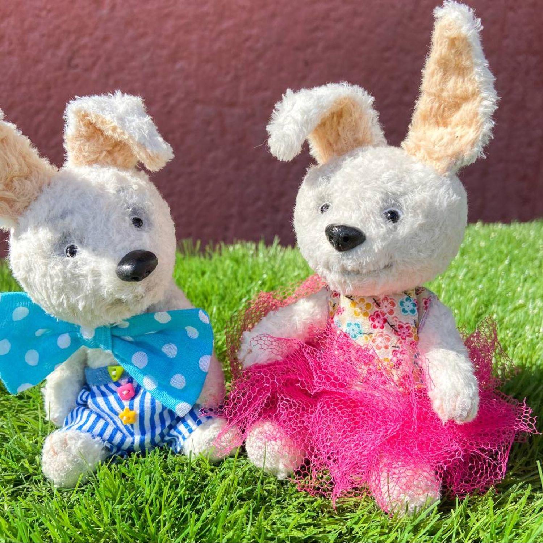 Набор пасхальных Зайцев Тедди мальчик и девочка кролики, Тедди Зверята, Новосибирск,  Фото №1