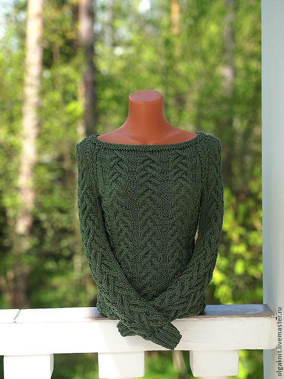 Пуловер зеленый доставка
