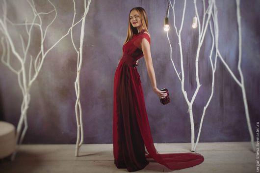 """Платья ручной работы. Ярмарка Мастеров - ручная работа. Купить Платье""""Aurora""""(бронь). Handmade. Бордовый, платье вечернее, красивое платье купить"""