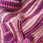 """Для дома и интерьера ручной работы. Ярмарка Мастеров - ручная работа """"Карамелька"""" прогулочный комплект  спицами пледик+шапочка+носочки. Handmade."""