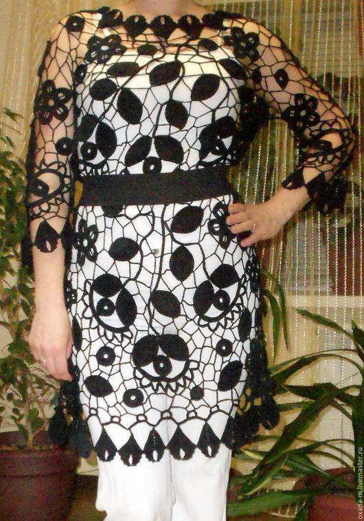 Платья ручной работы. Ярмарка Мастеров - ручная работа. Купить Платье-туника по мотивам Лауры (ирландское кружево). Handmade. Платье