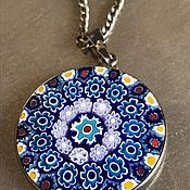 Винтаж handmade. Livemaster - original item Murano Flower pendant, silver, murano glass, Italy. Handmade.
