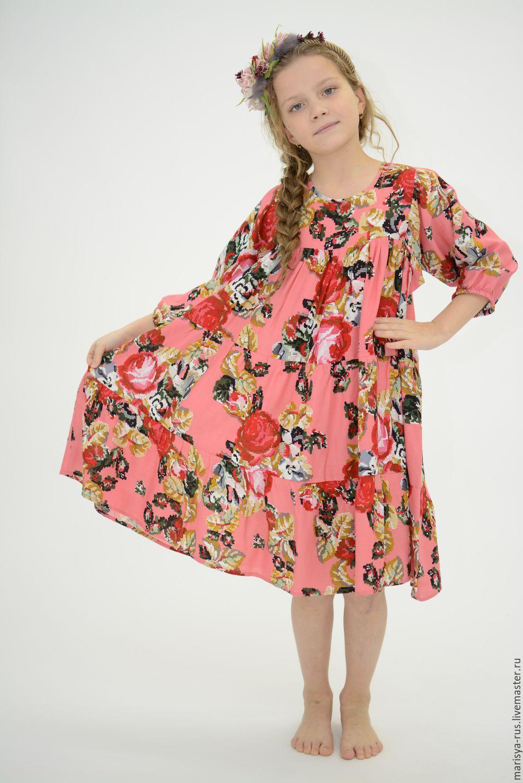 Цветочное платье для девочки