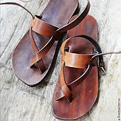"""Обувь ручной работы. Ярмарка Мастеров - ручная работа Кожаные сандалии """"Sparta"""". Handmade."""