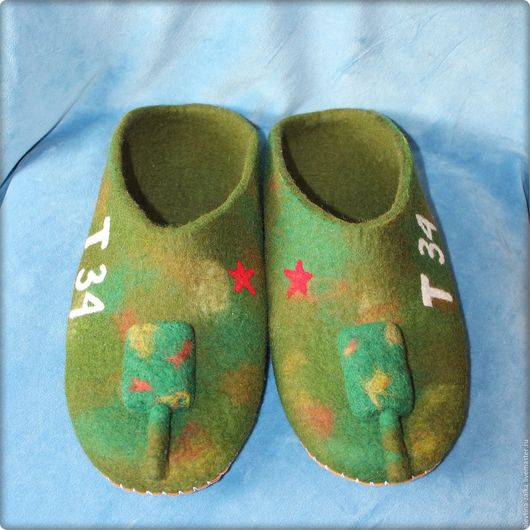 Обувь ручной работы. Ярмарка Мастеров - ручная работа. Купить Танки. Handmade. Хаки, танки, подарок на любой случай