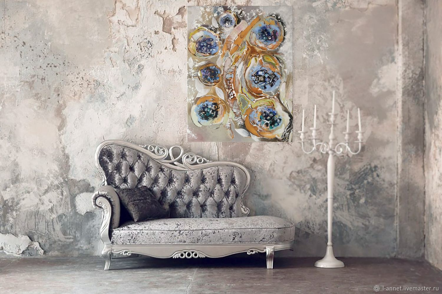 Texture painting - interior painting on canvas, Pictures, Moscow,  Фото №1