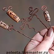 Украшения ручной работы. Ярмарка Мастеров - ручная работа Медные шпильки для волос. Handmade.