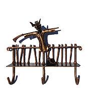 Вешалки ручной работы. Ярмарка Мастеров - ручная работа Металлическая вешалка  для полотенец Три крючка Медный цвет Дрёма. Handmade.