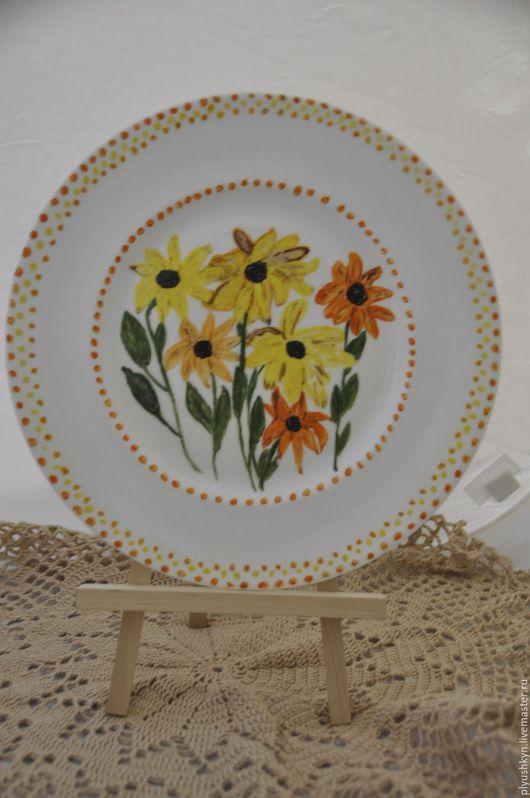 Винтажная посуда. Ярмарка Мастеров - ручная работа. Купить Тарелка. Handmade. Желтый, тарелка, винтаж, цветы, лето, подарок, фарфор