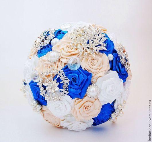 Свадебные цветы ручной работы. Ярмарка Мастеров - ручная работа. Купить брошь букет. Handmade. Белый, свадьба, авторская работа