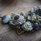 Украшения handmade. Livemaster - original item Necklace In the shades of the forest. Handmade.