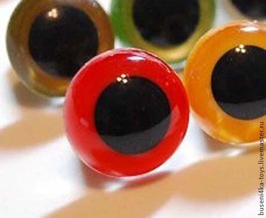 """Куклы и игрушки ручной работы. Ярмарка Мастеров - ручная работа. Купить 6мм Глаза для игрушек (красно-рыжие) 2шт. """"3415"""". Handmade."""