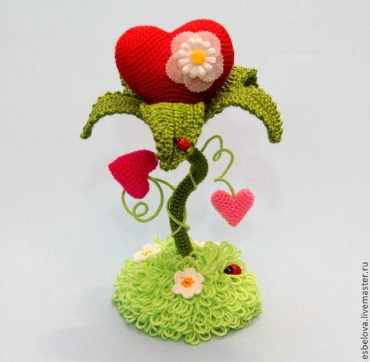 """Обучающие материалы ручной работы. Ярмарка Мастеров - ручная работа. Купить Мастер-класс по вязанию """"Цветочное сердце"""" (крючок). Handmade."""