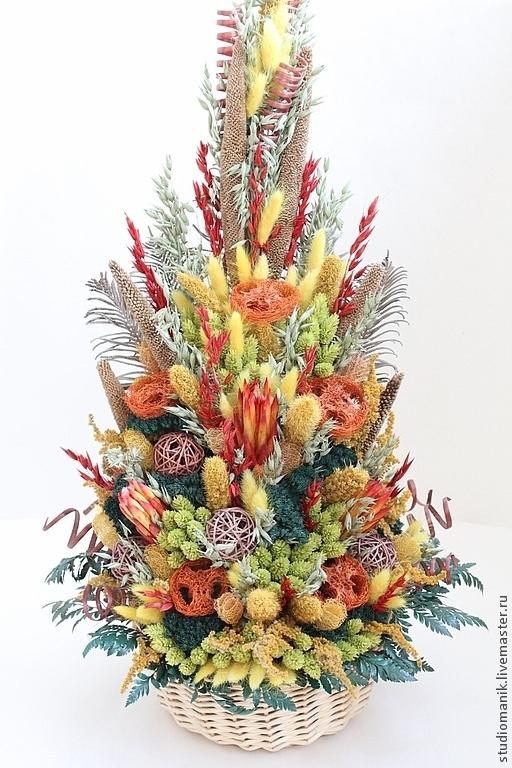 Интерьерные композиции ручной работы. Ярмарка Мастеров - ручная работа. Купить Композиция из сухоцветов - Осень. Handmade. Сухоцветы, композиция из сухоцветов