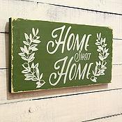 Для дома и интерьера ручной работы. Ярмарка Мастеров - ручная работа Интерьерная вывеска Home. Handmade.