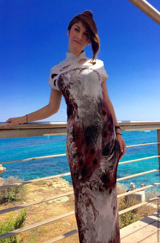 Платья ручной работы. Ярмарка Мастеров - ручная работа. Купить Клеопатра. Handmade. Платье нарядное, валяное платье, шёлк натуральный