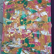 Картины и панно handmade. Livemaster - original item Abstract painting with gold and bright colors