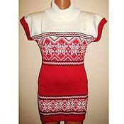 Одежда handmade. Livemaster - original item Tunic knitted Norwegian snowflake. Handmade.